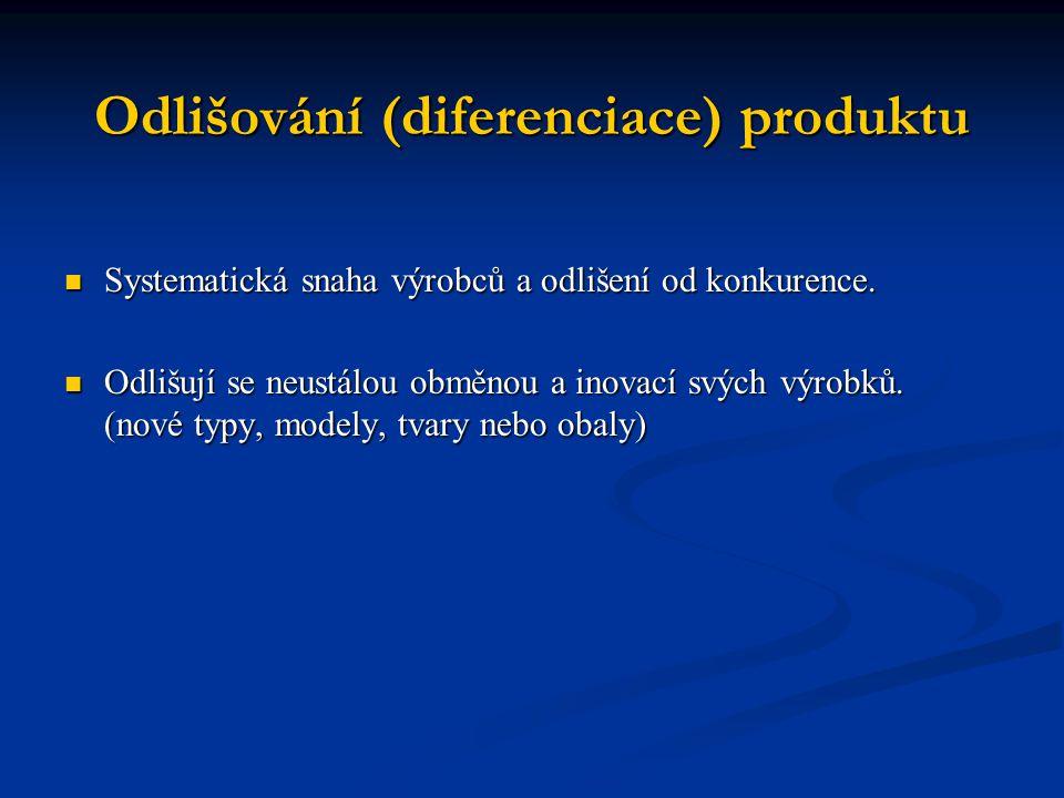 Odlišování (diferenciace) produktu