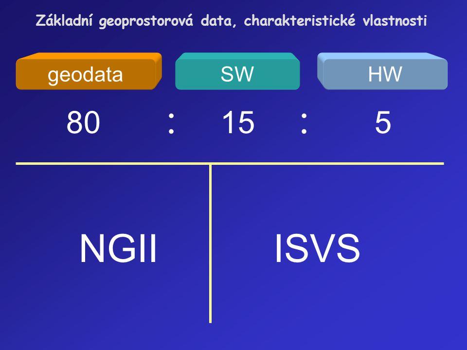 NGII ISVS 80 : 15 : 5 geodata SW HW