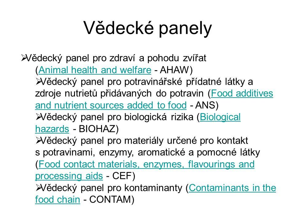 Vědecké panely Vědecký panel pro zdraví a pohodu zvířat