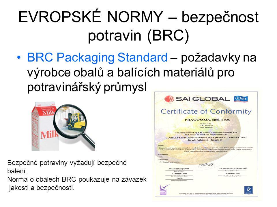 EVROPSKÉ NORMY – bezpečnost potravin (BRC)