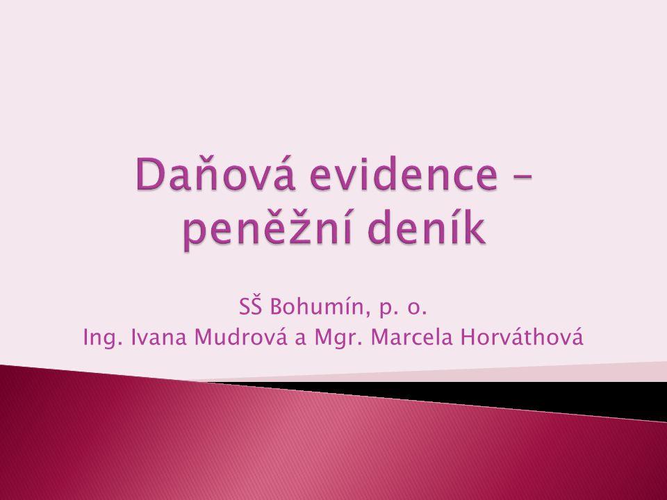 Daňová evidence – peněžní deník