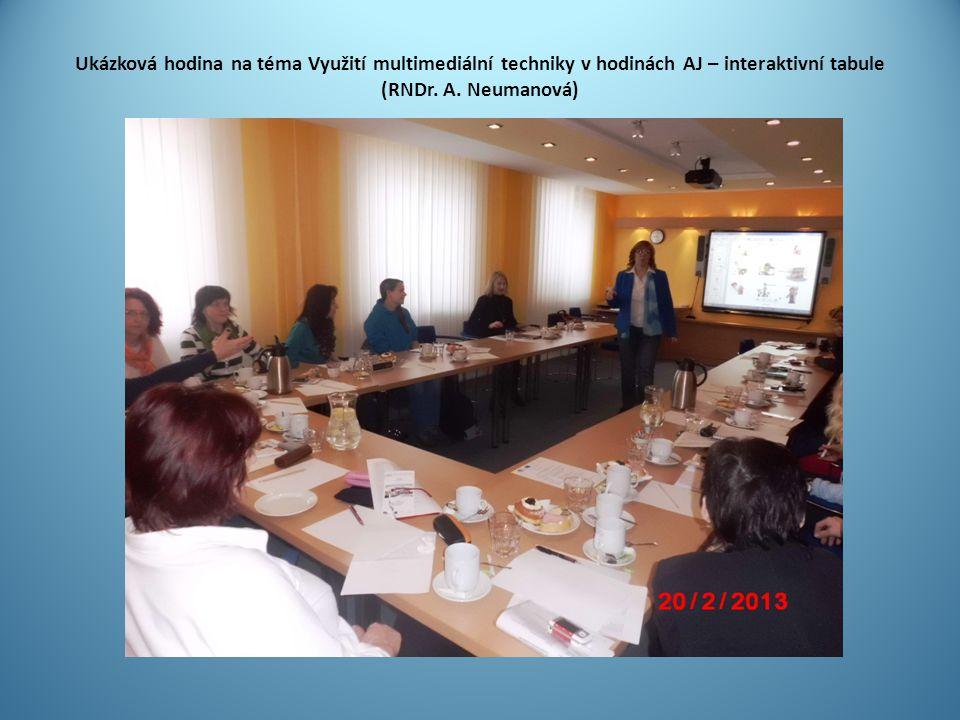 Ukázková hodina na téma Využití multimediální techniky v hodinách AJ – interaktivní tabule (RNDr.