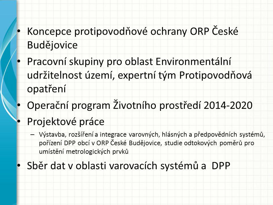Koncepce protipovodňové ochrany ORP České Budějovice