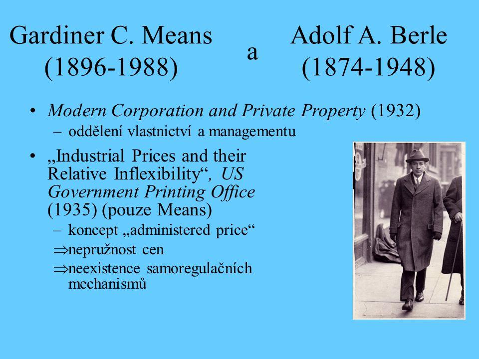 Gardiner C. Means (1896-1988) a Adolf A. Berle (1874-1948)