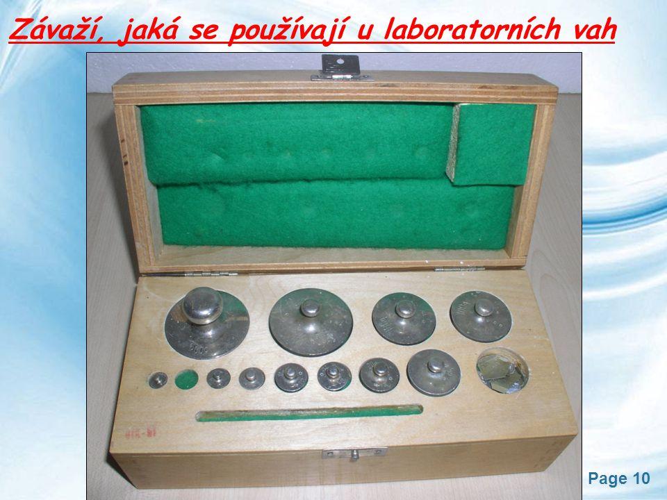 Závaží, jaká se používají u laboratorních vah