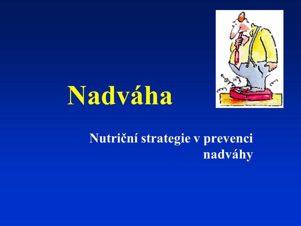 Nutriční strategie v prevenci nadváhy