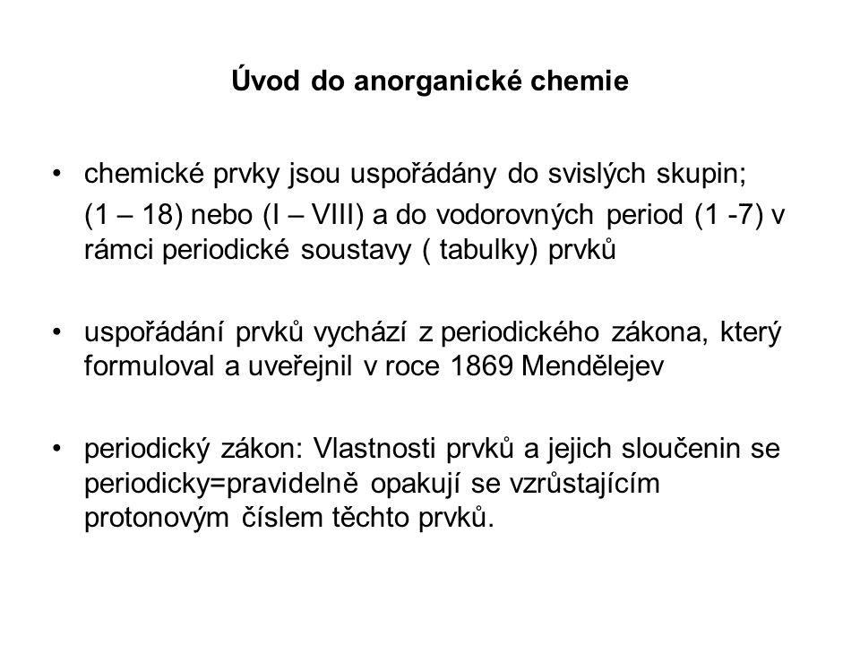 Úvod do anorganické chemie