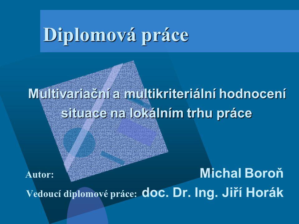 Autor: Michal Boroň Vedoucí diplomové práce: doc. Dr. Ing. Jiří Horák