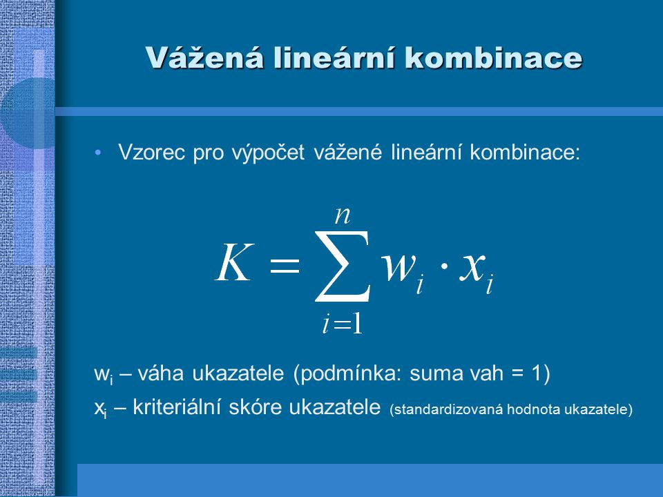 Vážená lineární kombinace