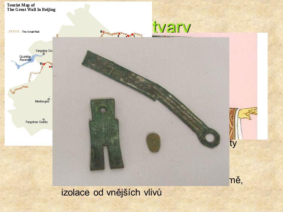 Státní útvary Šang - kolem 1500 př. n. l. Čou – 11. – 8. st. př. n. l.