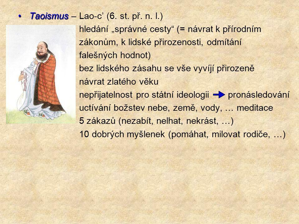 Taoismus – Lao-c' (6. st. př. n. l.)