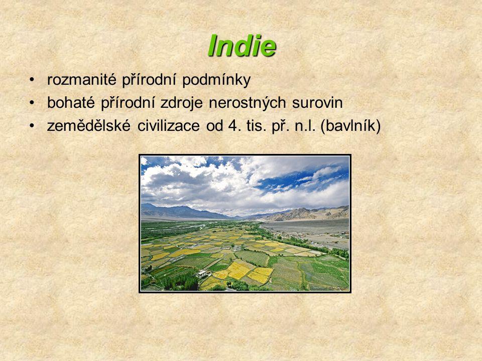 Indie rozmanité přírodní podmínky