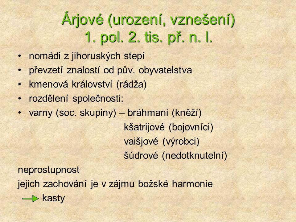 Árjové (urození, vznešení) 1. pol. 2. tis. př. n. l.