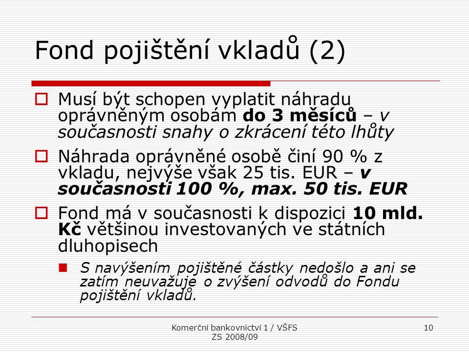 Fond pojištění vkladů (2)