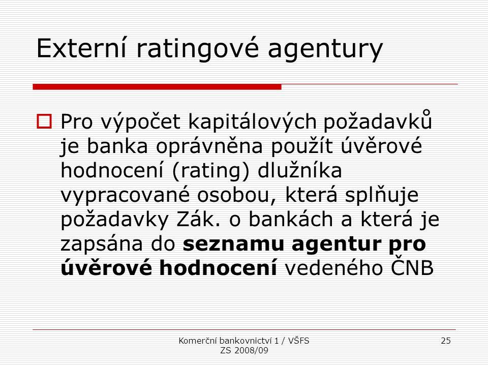 Externí ratingové agentury