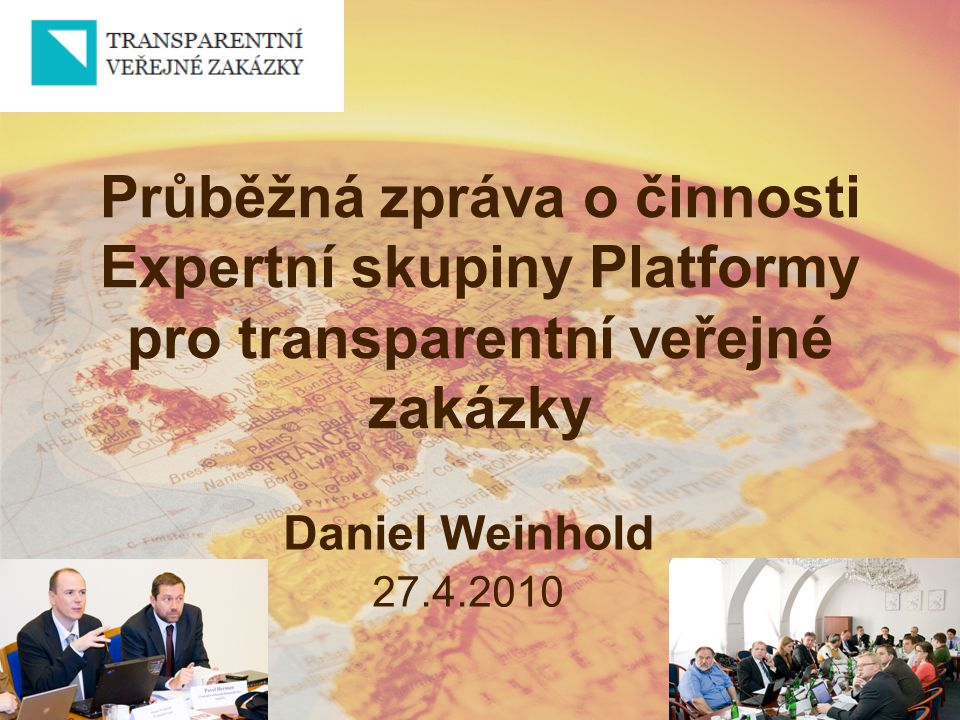 Průběžná zpráva o činnosti Expertní skupiny Platformy pro transparentní veřejné zakázky
