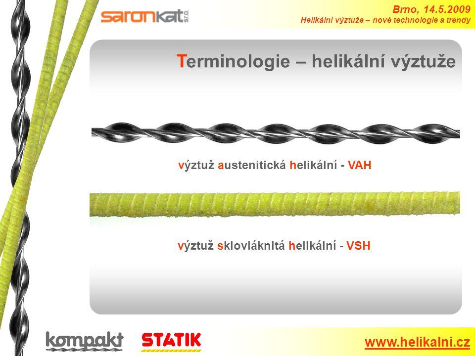 Terminologie – helikální výztuže