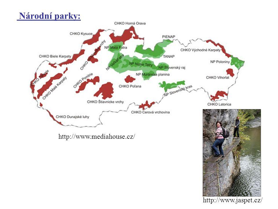 Národní parky: http://www.mediahouse.cz/ http://www.jaspet.cz/