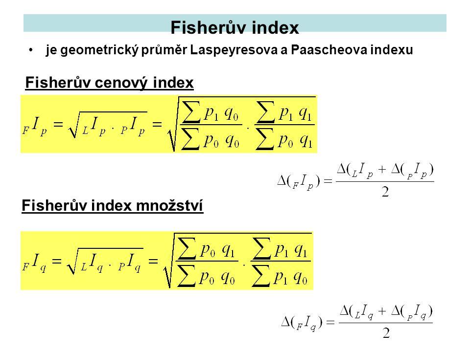 Fisherův index Fisherův cenový index Fisherův index množství