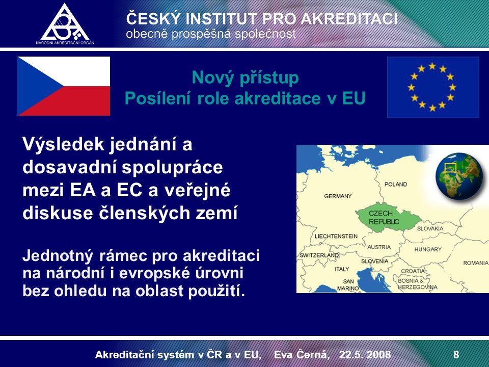 Nový přístup Posílení role akreditace v EU