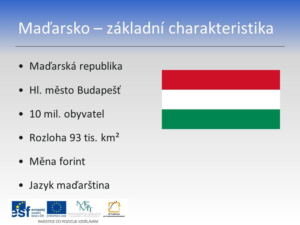 Maďarsko – základní charakteristika