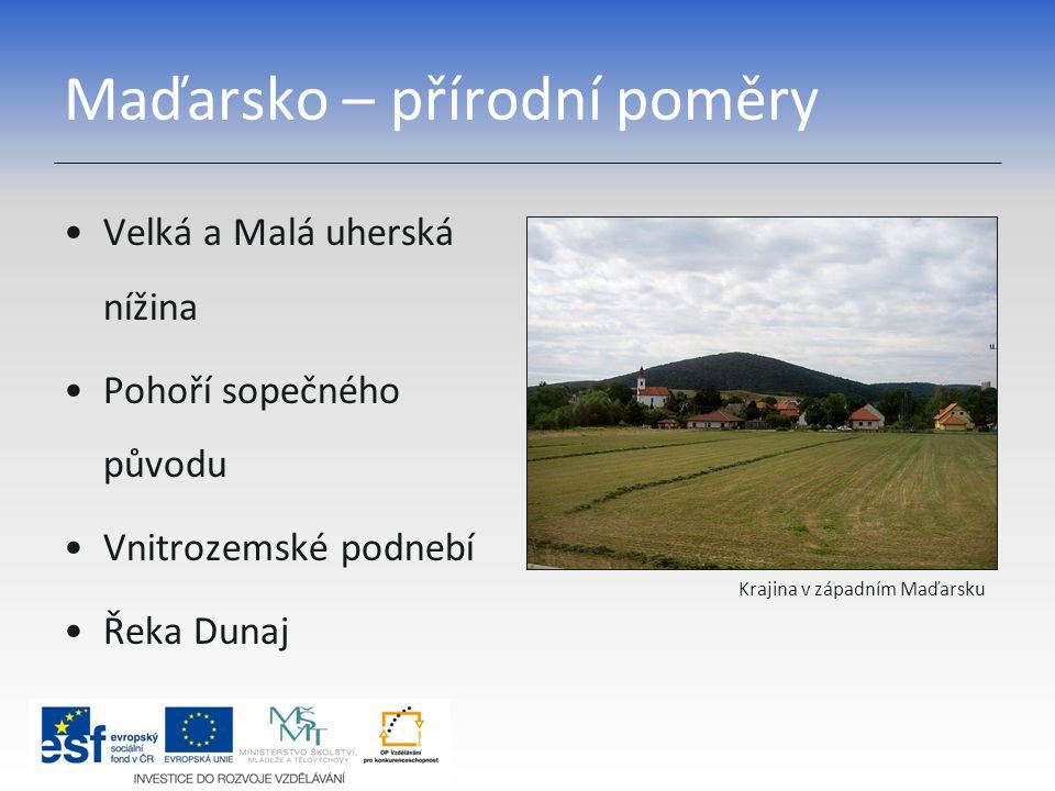Maďarsko – přírodní poměry