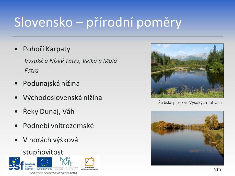 Slovensko – přírodní poměry