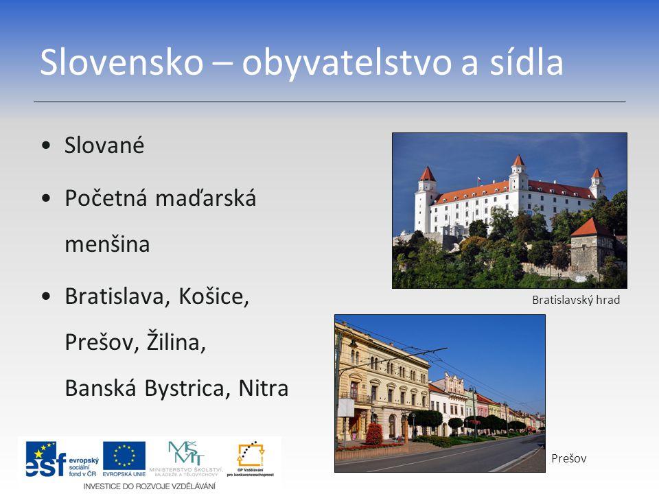 Slovensko – obyvatelstvo a sídla