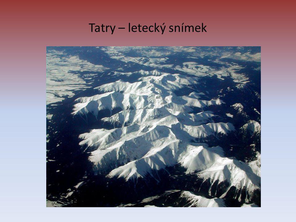 Tatry – letecký snímek