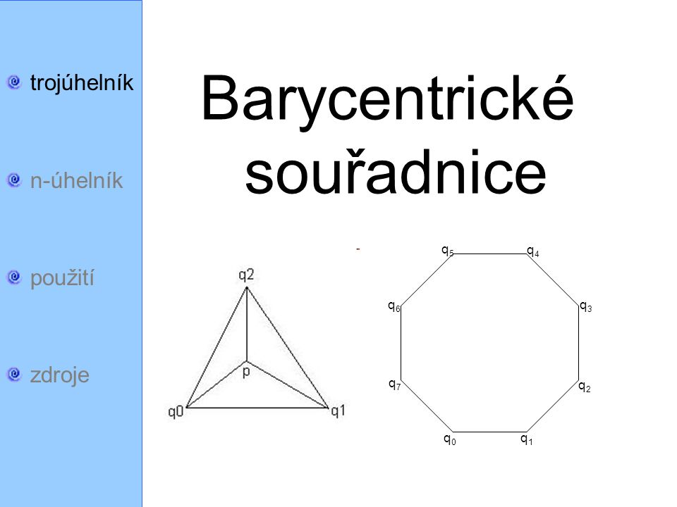 trojúhelník n-úhelník použití zdroje