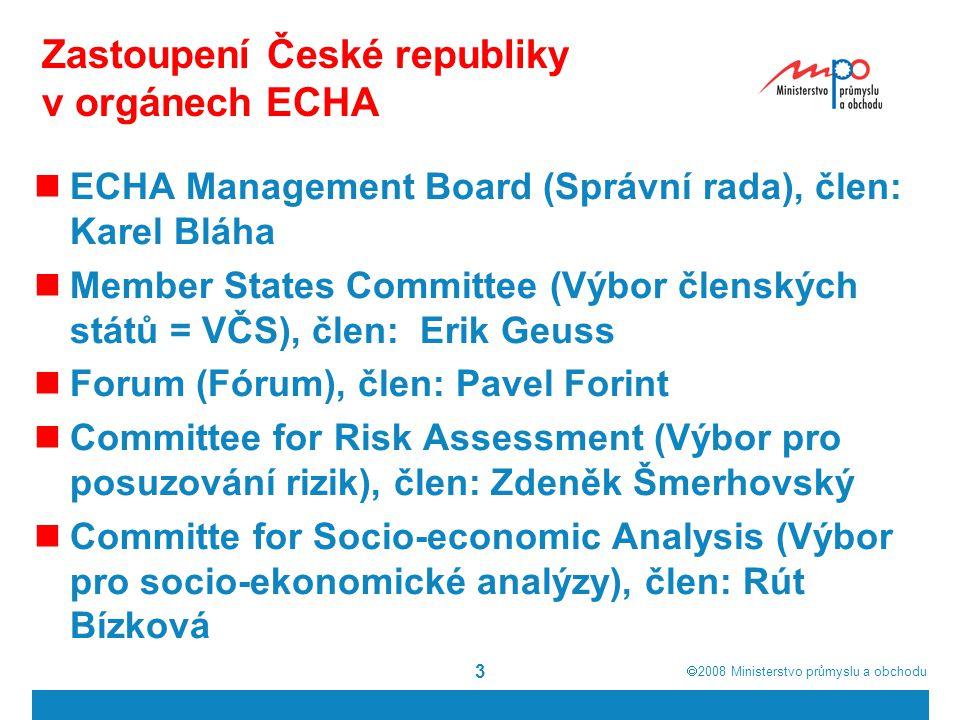 Zastoupení České republiky v orgánech ECHA