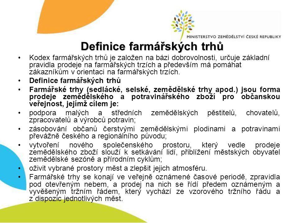 Definice farmářských trhů