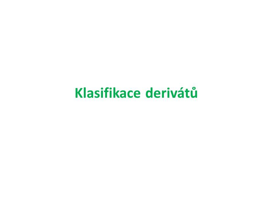Klasifikace derivátů