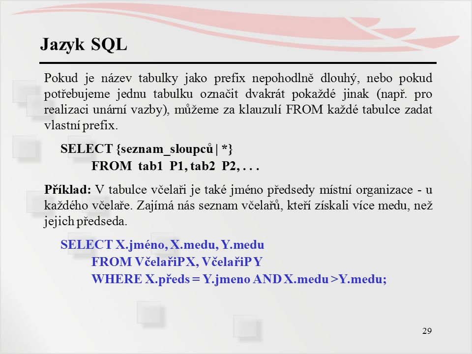 Jazyk SQL