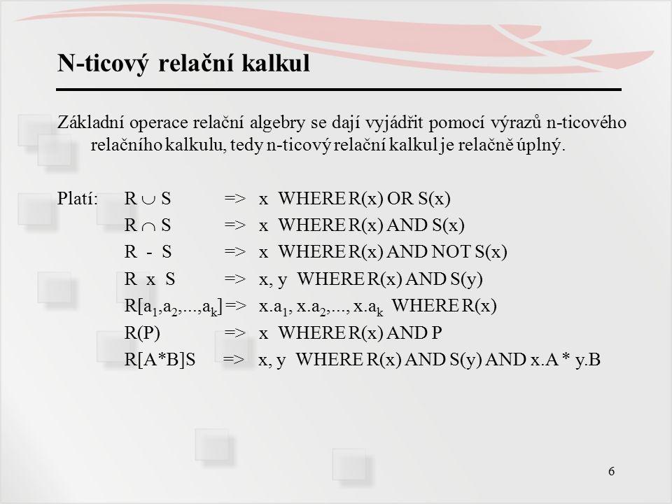 N-ticový relační kalkul