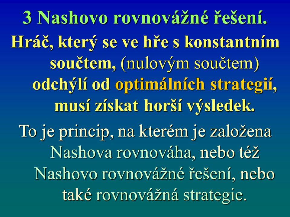 3 Nashovo rovnovážné řešení.