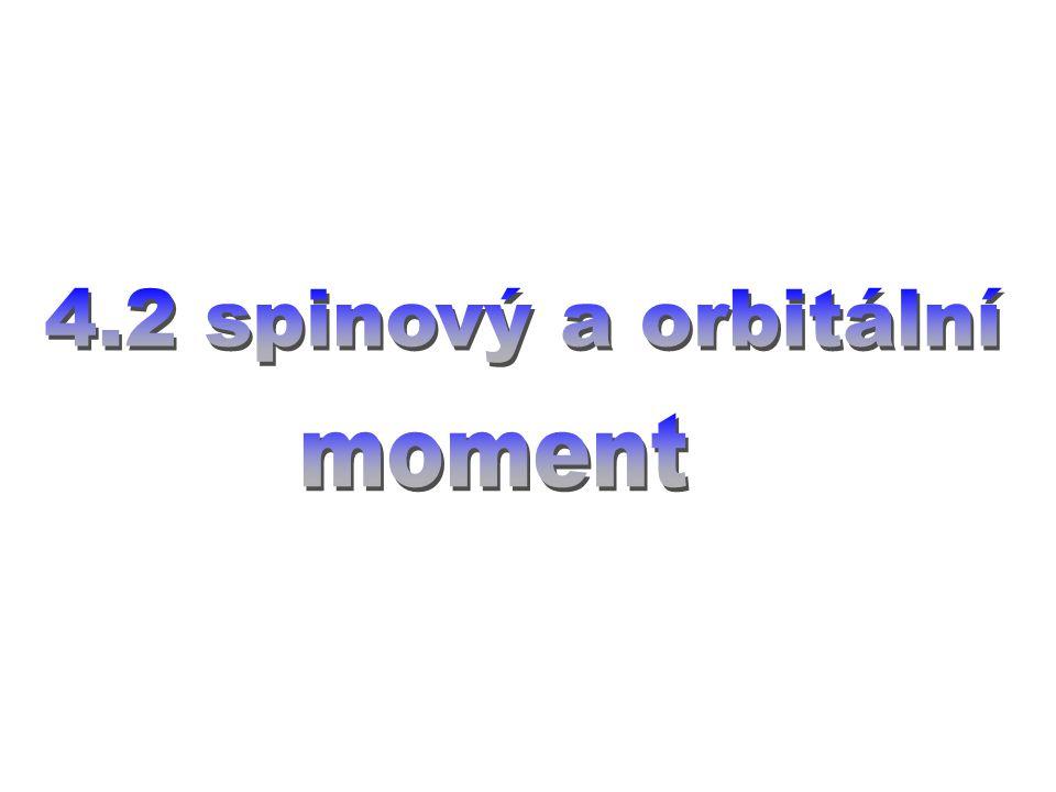4.2 spinový a orbitální moment