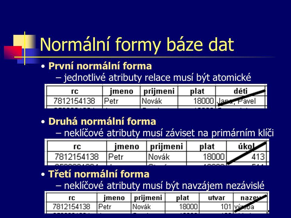 Normální formy báze dat