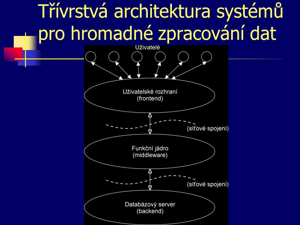 Třívrstvá architektura systémů pro hromadné zpracování dat