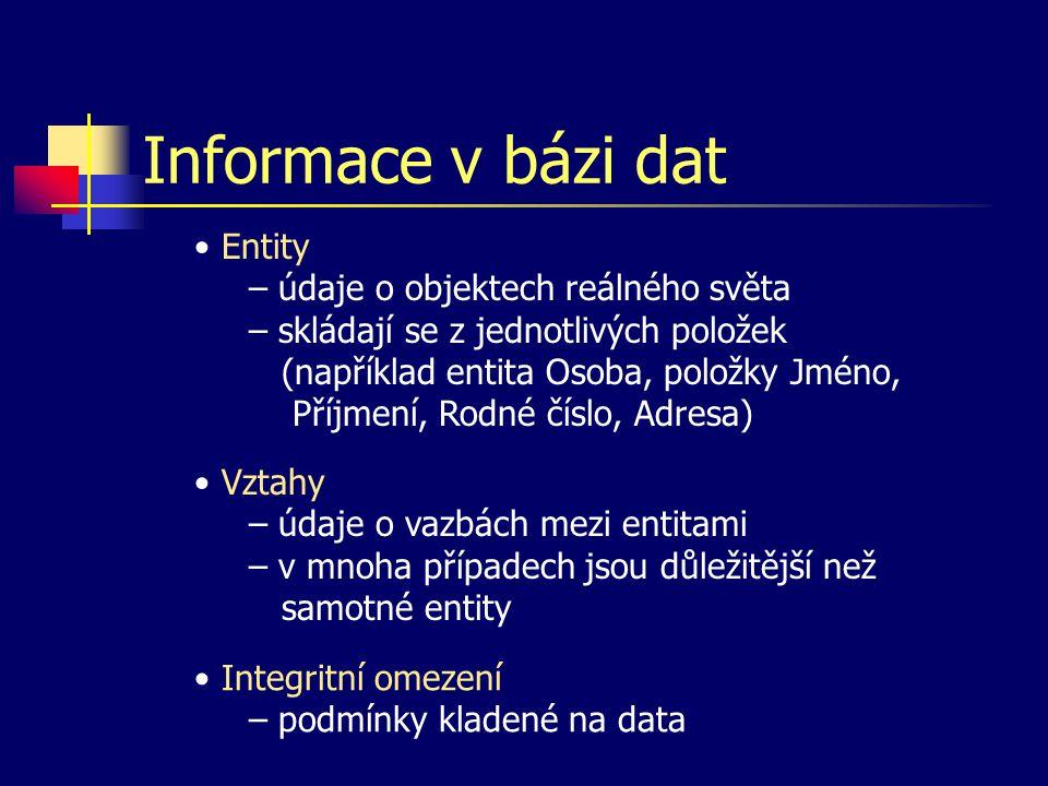 Informace v bázi dat
