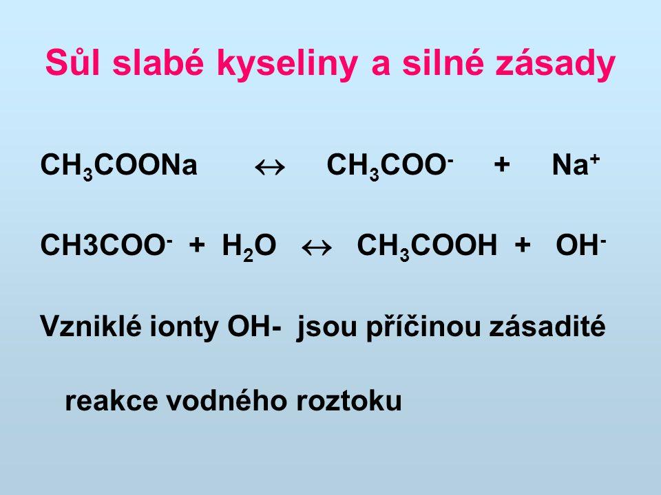 Sůl slabé kyseliny a silné zásady