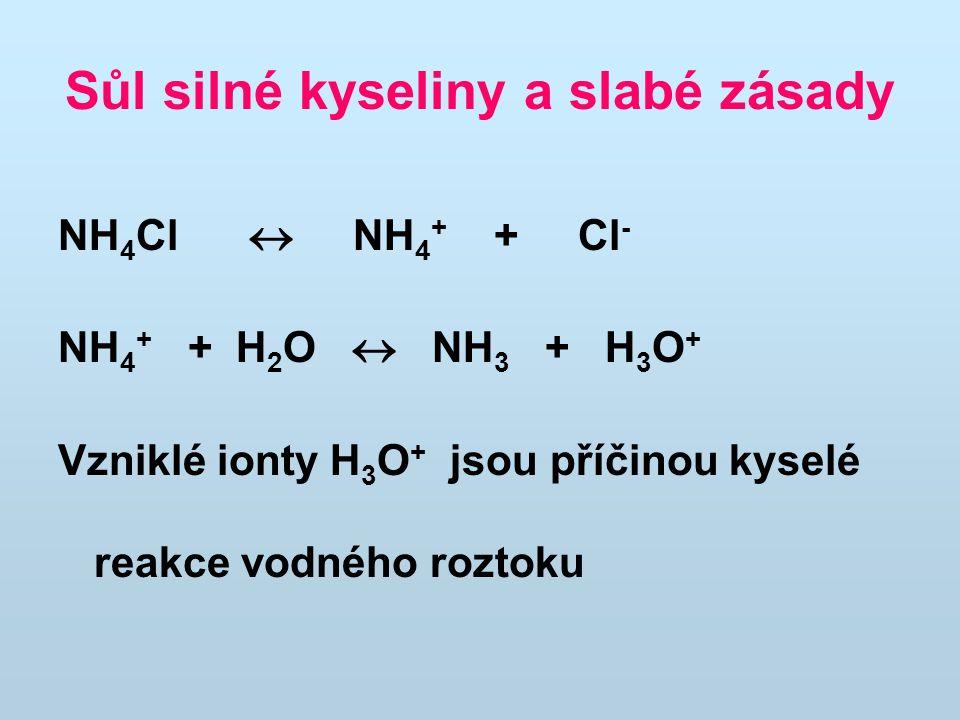 Sůl silné kyseliny a slabé zásady