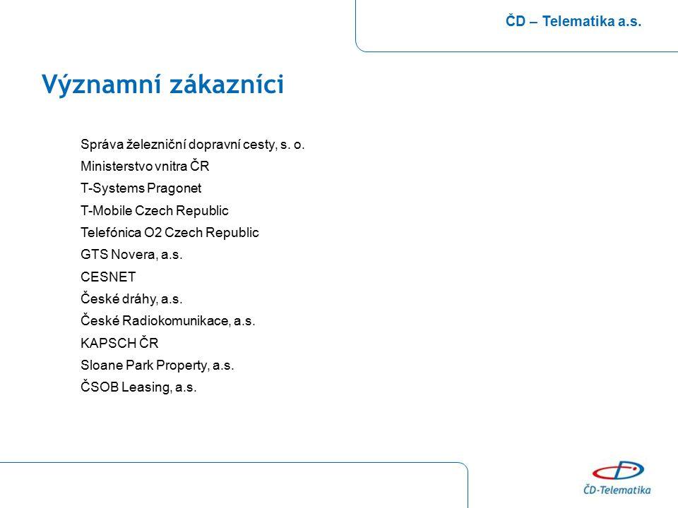 Významní zákazníci ČD – Telematika a.s.