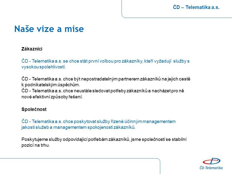 Naše vize a mise ČD – Telematika a.s. Zákazníci