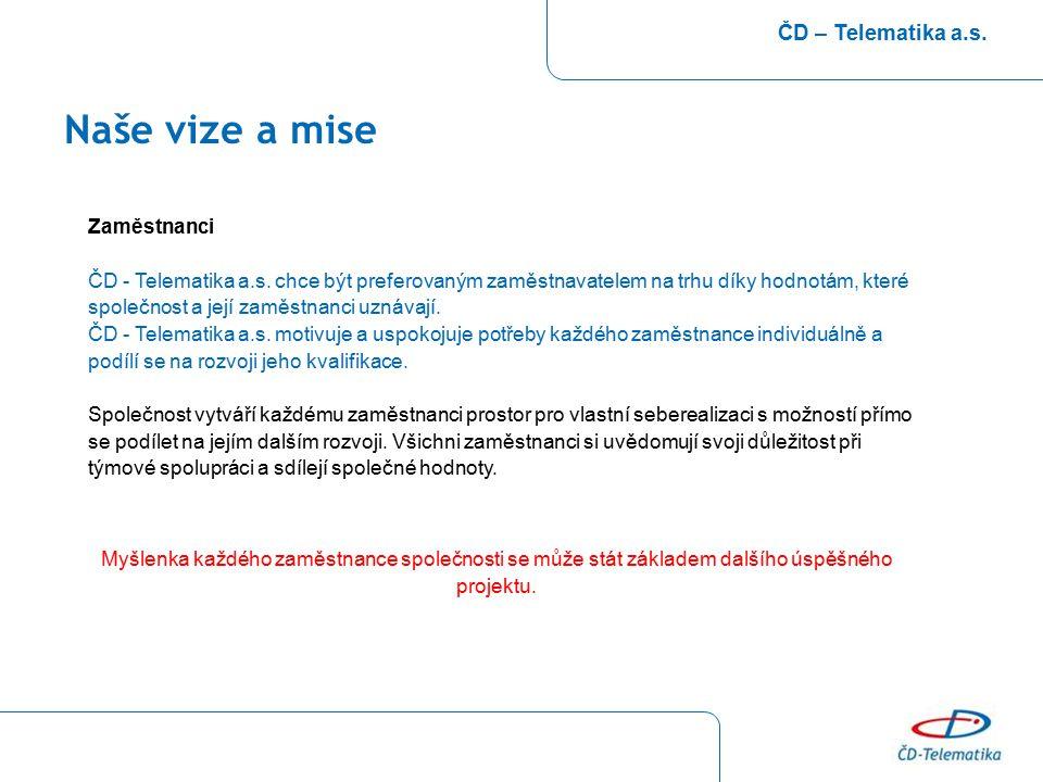 Naše vize a mise ČD – Telematika a.s. Zaměstnanci