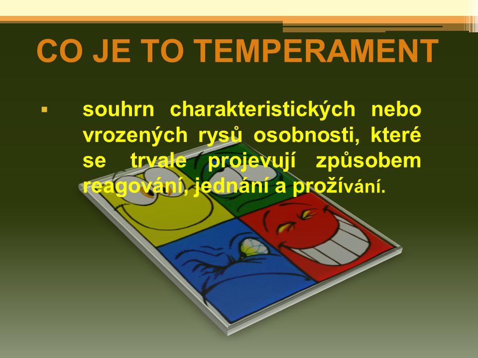 CO JE TO TEMPERAMENT