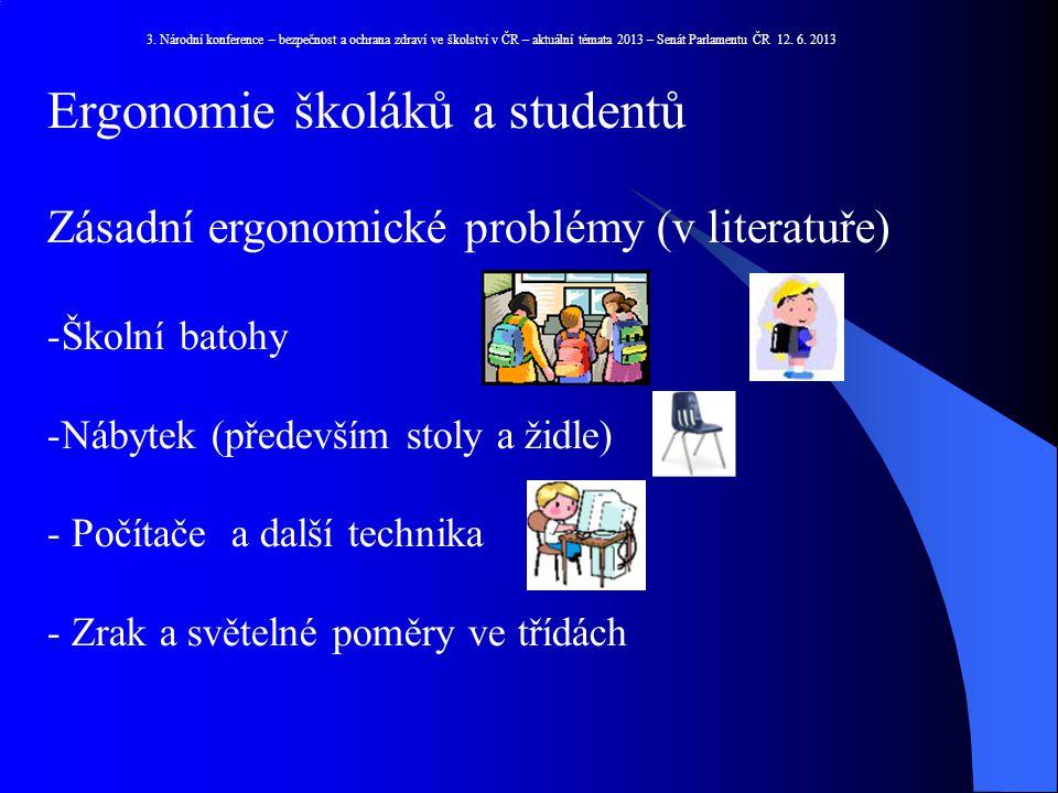 Ergonomie školáků a studentů