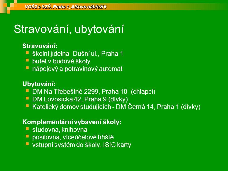 Stravování, ubytování Stravování: školní jídelna Dušní ul., Praha 1