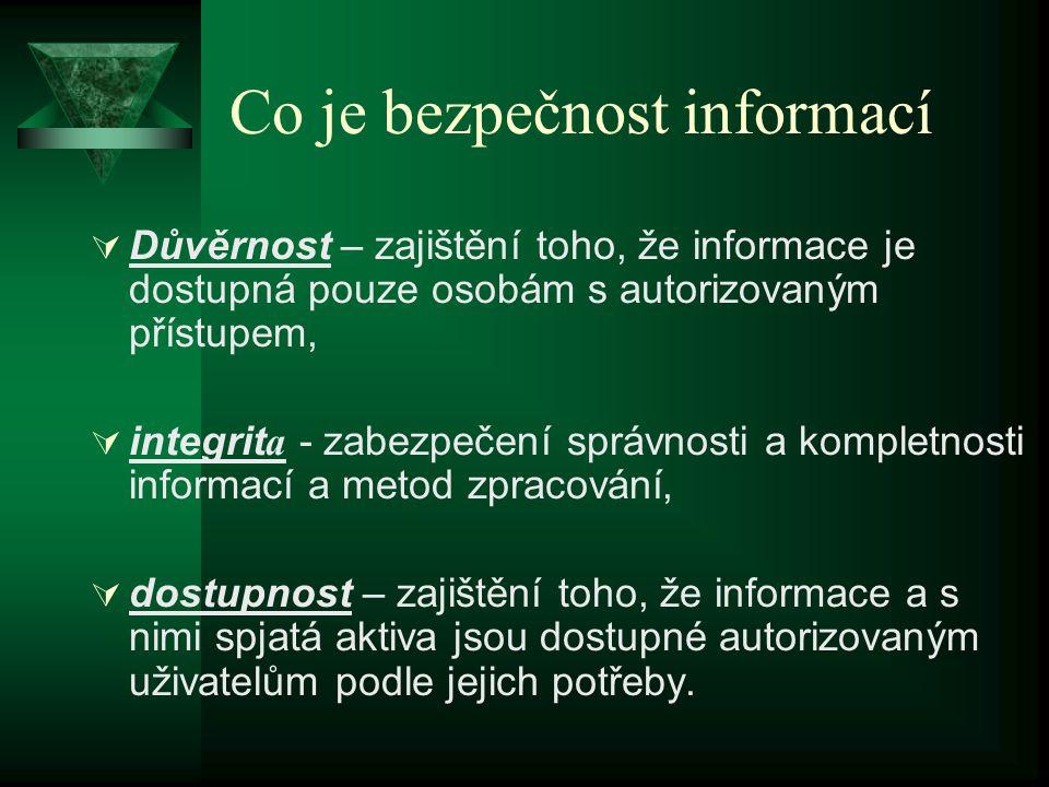 Co je bezpečnost informací
