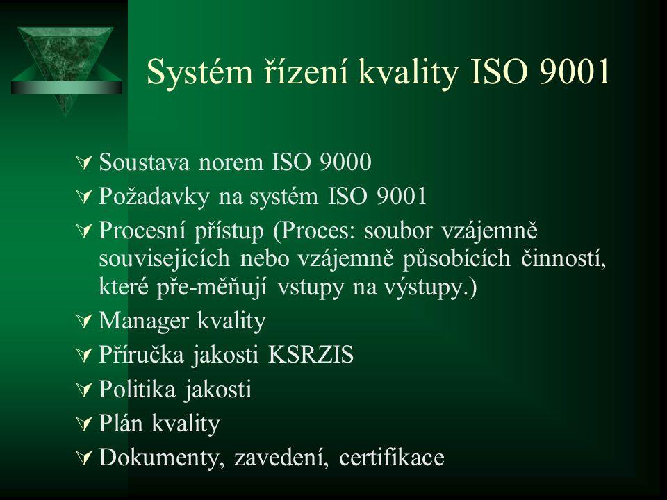Systém řízení kvality ISO 9001